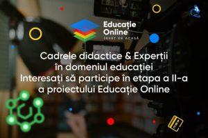 Atenţie! Proiectul Educație Online, etapa a II-a